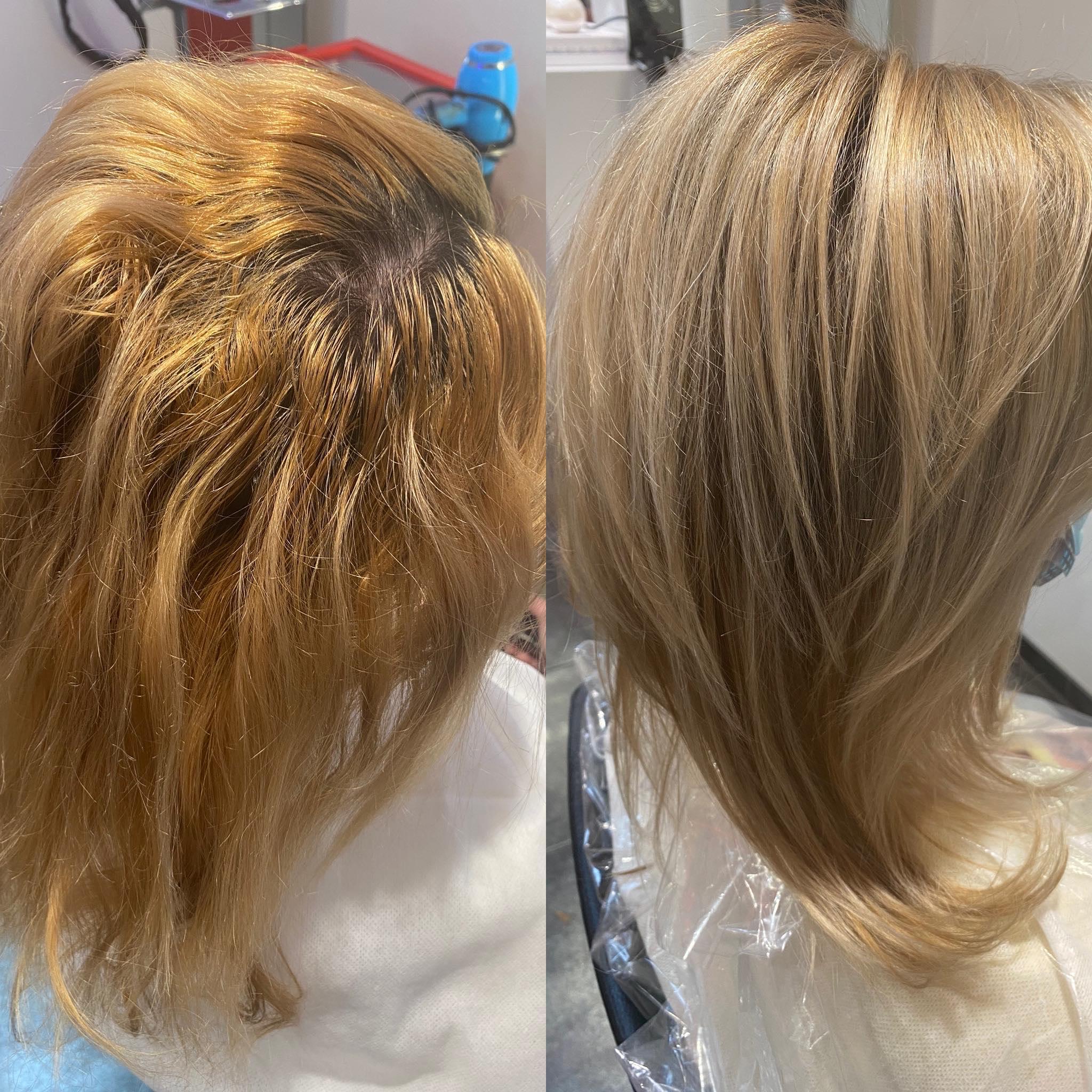 Voor en na Coiffure New Look